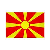 Macedonia flag Magnets
