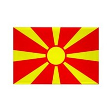 Macedonian Flag Rectangle Magnet