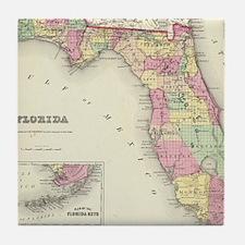 Cute Map of florida Tile Coaster