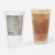 Cool Map of florida Drinking Glass