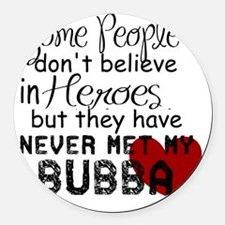 Bubba Hero Round Car Magnet