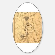 Cute Civil war battlefield Sticker (Oval)