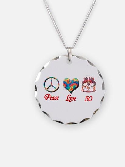 50th. Birthday Necklace Circle Charm