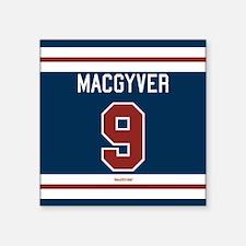 "MacGyver: 9 Hockey Jersey Square Sticker 3"" x 3"""