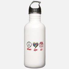 50th. Birthday Water Bottle