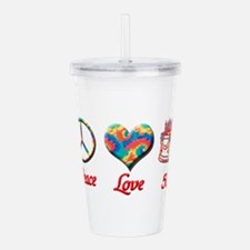 50th. Birthday Acrylic Double-wall Tumbler