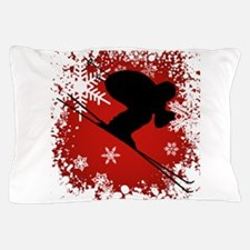 SKI DOWNHILL (RED) Pillow Case