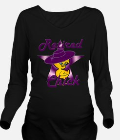 Retired Chick #9 Long Sleeve Maternity T-Shirt