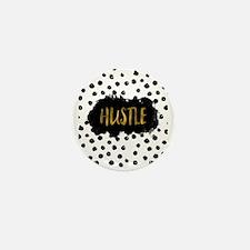 Black and White Gold Foil Hustle Mini Button