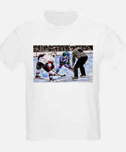 Hocky Players and Referee at Center Ice T-Shirt