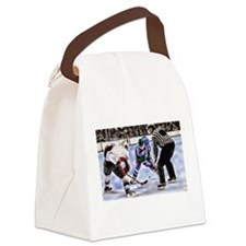 Hocky Players and Referee at Cent Canvas Lunch Bag