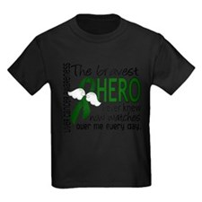 Cute Liver cancer emerald green ribbon T