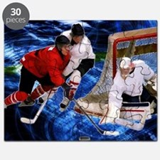 Action at the Hockey Net Puzzle