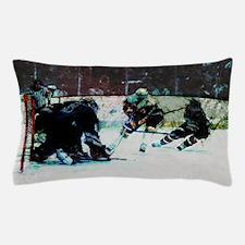 Grunge Hockey Match Pillow Case