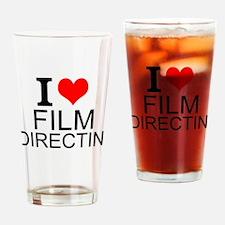 I Love Film Directing Drinking Glass