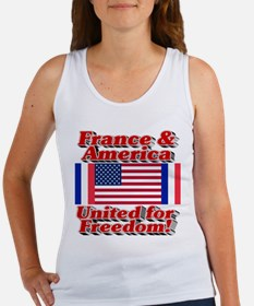 France & America United for Freed Women's Tank Top