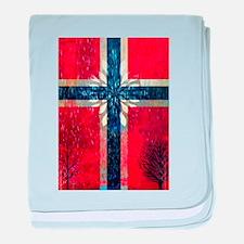 Norwegian winter baby blanket