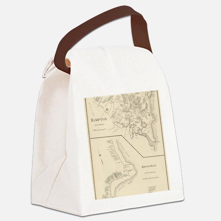 Cute Hampton beach Canvas Lunch Bag