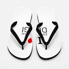I Love Environmental Design Flip Flops
