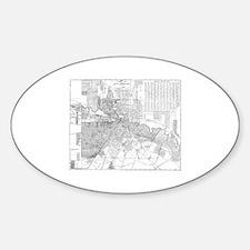 Cartoon map of houston texas Decal