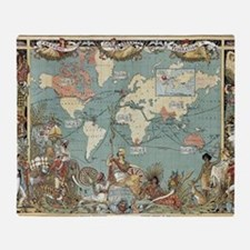 World maps Throw Blanket