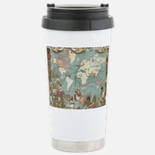 Cute Vintage world map Travel Mug