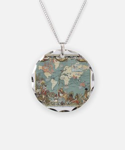 Cool World map Necklace