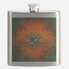 Cloverleaf made of diamond Flask