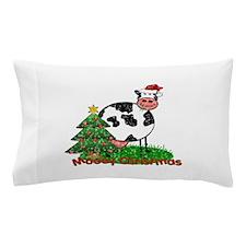 cartoon christmas cow.jpg Pillow Case