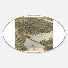 Cute I heart jacksonville Sticker (Oval)