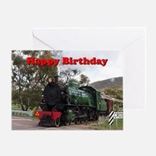 Unique Railroad train Greeting Card