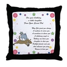 Secret Pal Birthday Throw Pillow