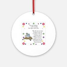 Secret Pal Birthday Ornament (Round)