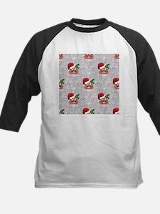 santa christmas poop emoji Baseball Jersey