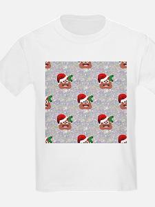 santa christmas poop emoji T-Shirt