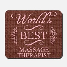 World's Best Massage Therapist Mousepad