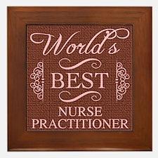 World's Best Nurse Practitioner Framed Tile