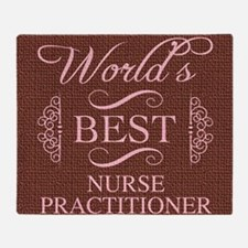 World's Best Nurse Practitioner Throw Blanket
