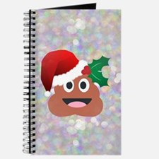santa christmas poop emoji Journal