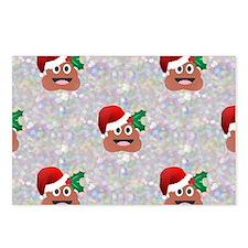 santa christmas poop emoj Postcards (Package of 8)