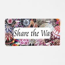Share The Wa Temari Aluminum License Plate