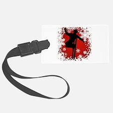 SKI JUMP (RED) Luggage Tag