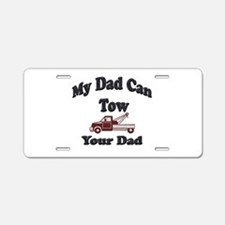 Towing Dad Aluminum License Plate