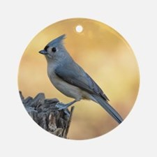 Tufted titmouse 2 Round Ornament