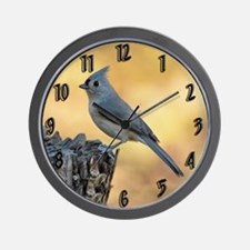 Tufted Titmouse 2 Wall Clock