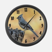 Tufted Titmouse 2 Large Wall Clock