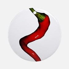 Twisted Spicy Red Cayenne Pepper Round Ornament