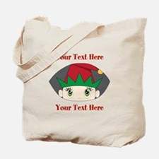 CUSTOM Peeking Elf Tote Bag
