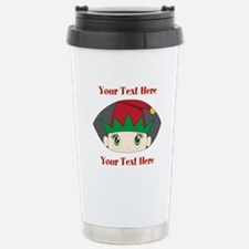 CUSTOM Peeking Elf Travel Mug