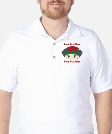CUSTOM Peeking Elf Golf Shirt